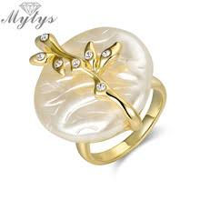 aliexpress buy brand tracyswing rings for women buy rings gold pearl and get free shipping on aliexpress