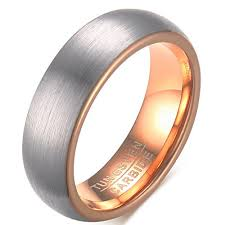 wedding rings classic images 6mm tungsten carbide men 39 s wedding bands classic 18k rose gold jpg