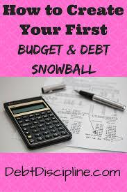 Debt Snowball Spreadsheet Budget Debt Discipline
