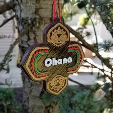 polynesian ohana themed christmas ornament disney tiki polynesia
