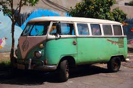 volkswagen green free images woman vw van green motor vehicle classic