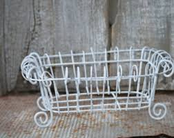 Shabby Chic Wire Baskets by Wire Basket Etsy