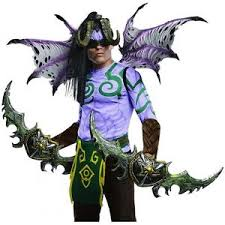Body Halloween Costumes Blizzard Illidan Body Mens Halloween Demon Costume Wow