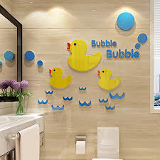 duck decorations baby duck acrylic stickers for kindergarten kids room
