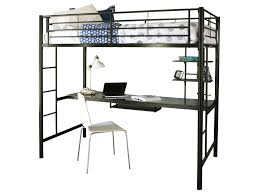 bedroom transitional stained metal twin metal loft bed with