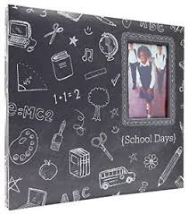 expandable scrapbook mbi 12x12 inch school days chalkboard expandable scrapbook gray