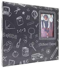 expandable scrapbook mbi 12x12 inch school days chalkboard expandable scrapbook gray