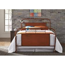 Liberty Furniture Industries Bedroom Sets Liberty Furniture Vintage Series Queen Metal Bed With Turned