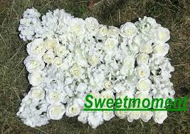 Hotel Flower Decoration 10pcs Lot Wedding Flower Wall Rose U0026 Hydrangeas Flower Decoration