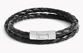 chain bracelet with leather images Double wrap scoubidou leather bracelet jpg