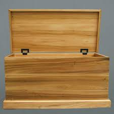 Handmade Wooden Toy Chest by Handmade Toy Chest In Poplar Rustic Torsion Hinges