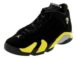 retro ferrari shoes amazon com jordan gradeschool 14 retro bg black vibrant yellow