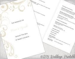 catholic wedding program template catholic wedding program template etsy