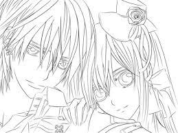 yuki u0026 vampire knight coloring free printable