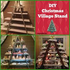 Decorative Christmas Tree Ladders by Diy Christmas Village Stand She Used A Ladder And Then Added