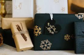 black gift wrap gift wrap black gold metallic snowflake marble vine