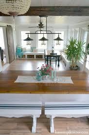 Remodelaholic DIY Builtin Breakfast Bar Dining Table - Sunroom dining room