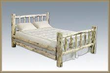 log bed frame ebay