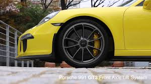 porsche 911 gt3 front ketosi porsche 991 gt3 front axle lifting system youtube