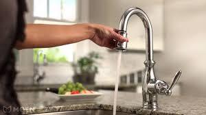 moen touch kitchen faucet moen motionsense faucet low flow touch free 169031 177565 7185srs