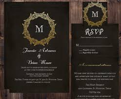 black and gold wedding invitation suite wedding invitation rsvp