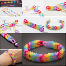 beaded bracelet pattern images Cool rainbow woven bead bracelet tutorial jpg