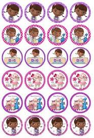 doc mcstuffin cake toppers free doc mcstuffins party printables cupcake toppers and