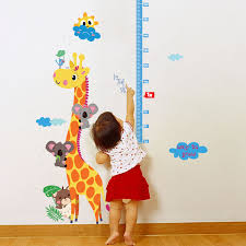 stickers girafe chambre bébé sticker toise girafe et koalas stickers animaux animaux d afrique
