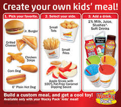 sonic gift cards sonic wacky pack kid meals include a dinotots through october