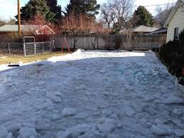 Ice Rink In Backyard Backyard Ice Rink Gets Early Start With Cold Weather Ksl Com