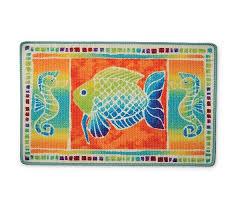 Fish Bath Rug Tropical Fish Fantasy Bathroom Rug Xfishf014t