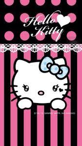 pink black u0026 white kitty wallpaper