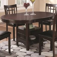 espresso dining room sets coaster furniture 102671 lavon dining table with storage in