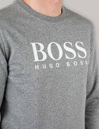 new boss discount sale men boss black charcoal logo sweatshirt