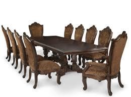 windsor court rectangular trestle table dining room set by michael