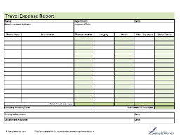 Trip Expense Tracker by Travel Expense Report Form