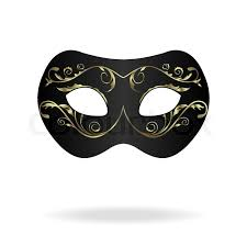 mardi mask illustration of realistic carnival or theater mask isolated on