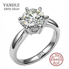 silver wedding rings 100 real solid silver wedding rings for women set 8mm sona cz
