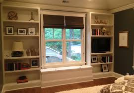 interior diy built in bookcase and bench for window design idea