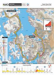 Norway On World Map by Team Time Trial Bergen 2017