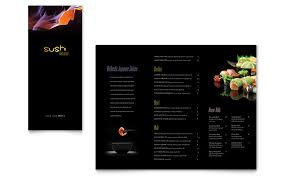 menu publisher template sushi restaurant take out brochure template word publisher