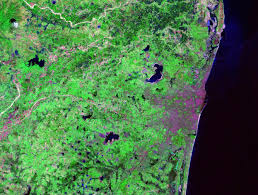 Image Of World Map by World Cities Satellite Images Landsat By Geology Com