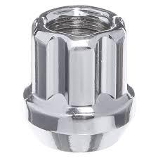 lexus f sport lug nuts west coast w1015sto silver cone seat bulge open end spline lug nut