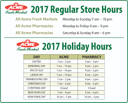 which stores open on thanksgiving day my store hours acme fresh market