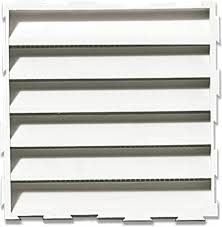 grille aeration chambre aeration pvc blanche 100x100