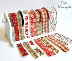 spools of ribbon paper towel holder ribbon organizer hometalk