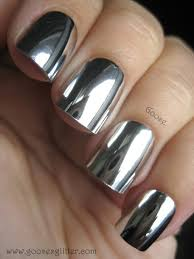 nail polish silver metallic nail pollish cute nails shiny