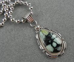 beads necklace images images Home americana indian shows silver variscite pendant on jpg