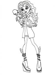 free printable monster high coloring pages lagoona mad science