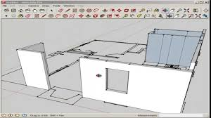 Drawing Floor Plan Sketchup Import And Model An Autocad Floor Plan Youtube